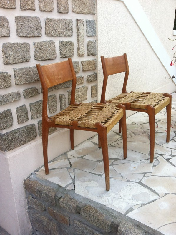 les chaises - Chaise Corde Tressee