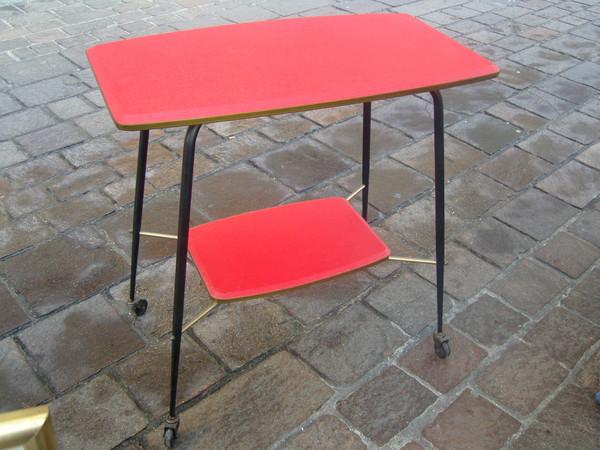 table d 39 appoint roulante ann es 60. Black Bedroom Furniture Sets. Home Design Ideas
